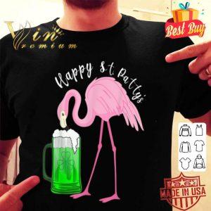 Funny Flamingo Happy St. Patty's Day St Patricks Beer Tshirt