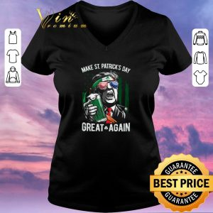 Funny Make St. Patrick's Day Great Again Trump drink beer shirt sweater