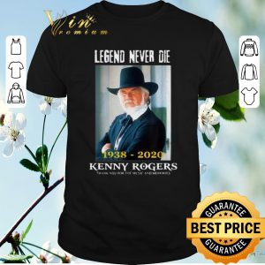 Hot Legend never die 1938-2020 Kenny Rogers thank for music memories shirt sweater