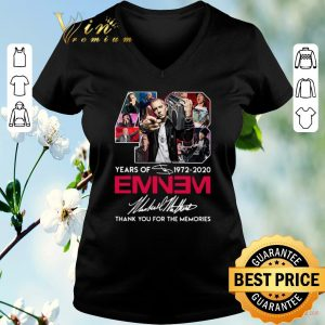Nice 48 years of 1972 2020 Eminem signature thank you for the memories shirt sweater