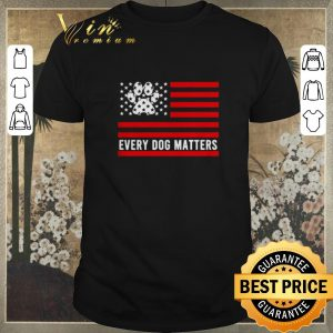 Nice American Flag dog paw every dog matters shirt sweater