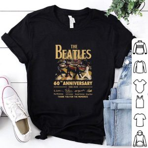 Nice The Beatles 60th anniversary 1960 2020 thank you for the memories signatures shirt