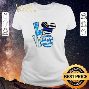 Official Love Mickey Mouse Thin Blue Line shirt sweater