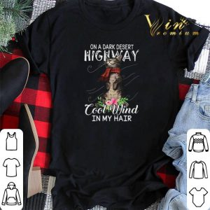 On a dark desert highway cool wind in my hair cat shirt sweater