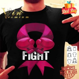 Pink Boxing Glove Fighter Awareness Breast Cancer Fight shirt