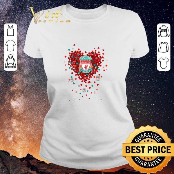Premium Love Liverpool Football Club tiny hearts shape shirt sweater