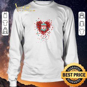 Premium Love Liverpool Football Club tiny hearts shape shirt sweater 2