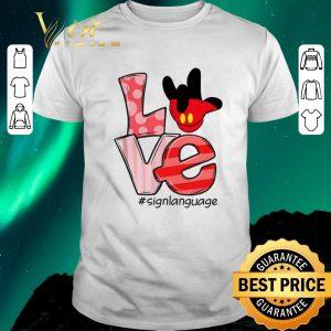 Premium Mickey Mouse Love #signlanguage shirt