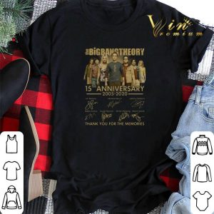 The Big Bang Theory 15th anniversary 2005-2020 signatures thank you for the memories shirt sweater
