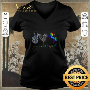 Top LGBT peace love pricle Heart Diamonds shirt sweater