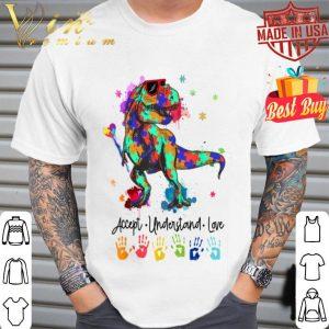 autism dinosaurs accept understand love gift shirt