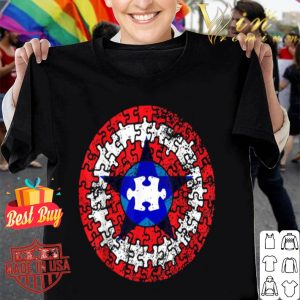 captain autism superhero shield awareness shirt