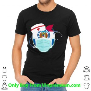 Apple Nurse Stethoscope Missouri Flag Covid-19 Shirt