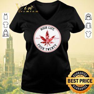 Awesome Marijuana Flowers High Life Inhale Exhale Four Twenty shirt sweater