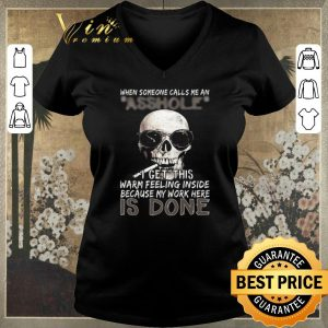 Awesome Skull Smoking When Someone Calls Me An Asshole I Get This Warm Feeling Inside shirt sweater 1