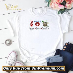 Baby yoda peace love sanitize zaxbys 2020 shirt sweater