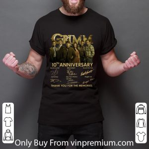 Grimm 10th Anniversary Thank You For The Memories Signatures Shirt