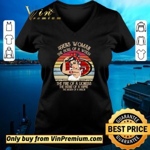 Hot San Francisco 49ers woman the soul of a witch the fire of a lioness vintage shirt sweater