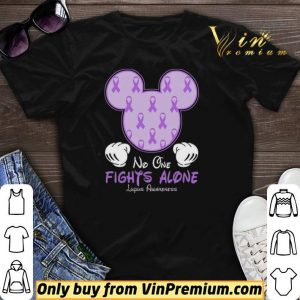 Mickey Mouse No One Fights Alone Lupus Awareness shirt sweater