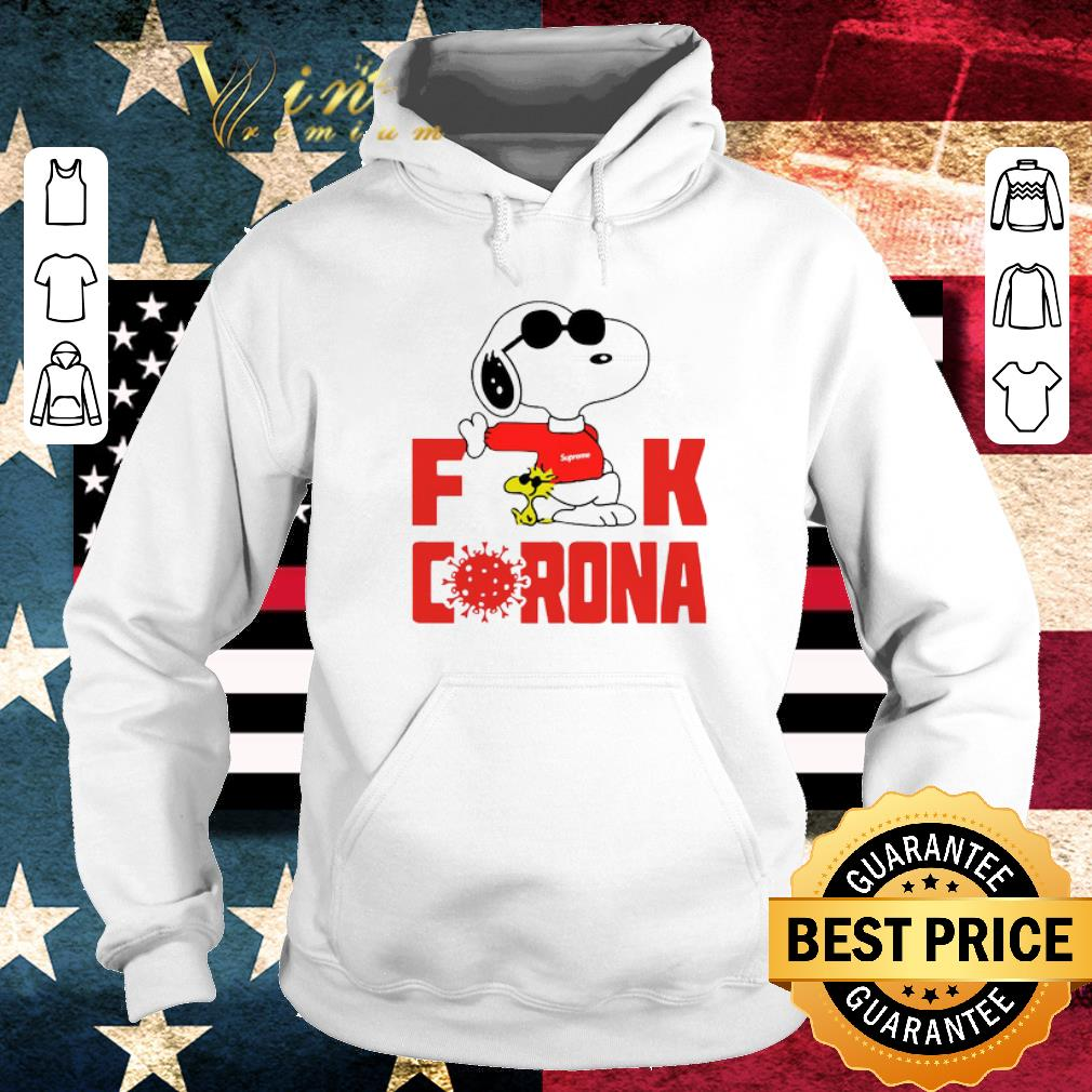 Premium Snoopy and Woodstock Supreme Fuck Corona shirt 4 - Premium Snoopy and Woodstock Supreme Fuck Corona shirt