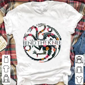 Floral Dragons Game of Thrones Bend the knee shirt