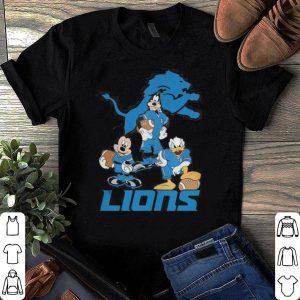 NFL Detroit Lions Mickey Mouse Donald Duck Goofy Football shirt