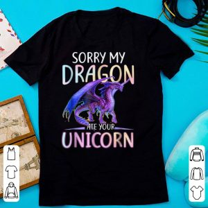 Sorry My Dragon Ate Your Unicorn Funny shirt