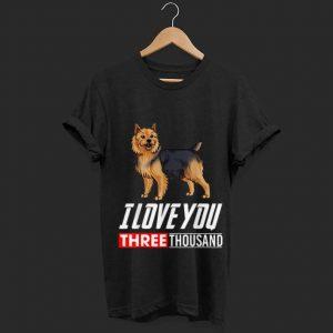 I Love You 3000 Australian Terrier Dog shirt
