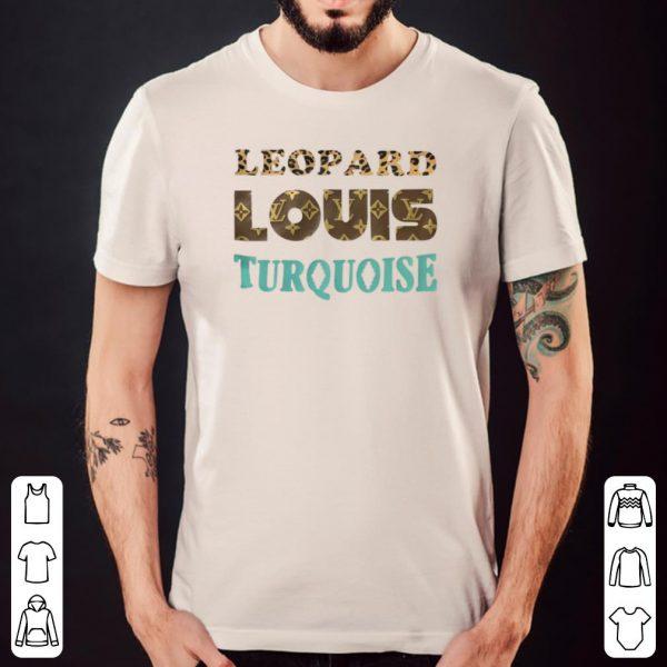 Leopard louis turquoise shirt