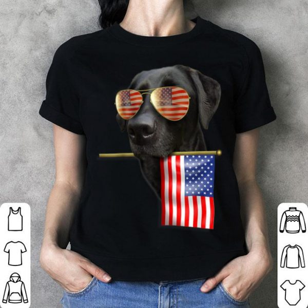 4th Of July Fun American Flag Labrador Dog Lover Shirt