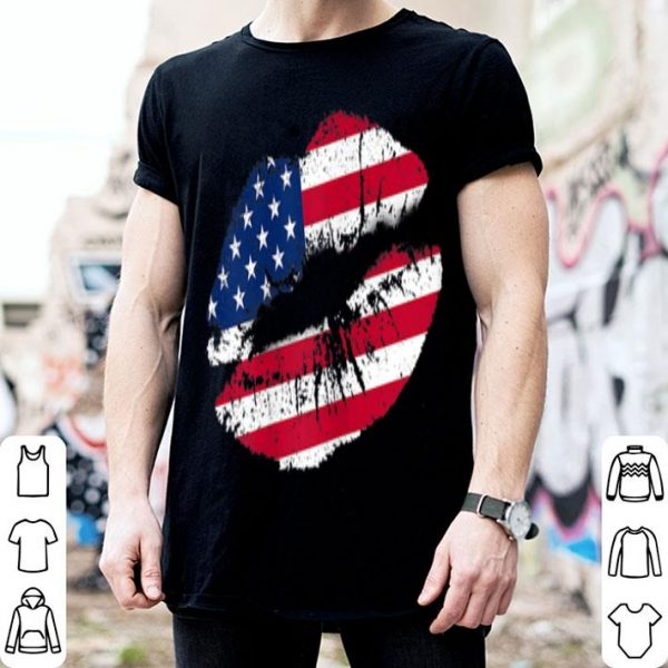 4th Of July Kiss Lips American Flag Patriotic shirt