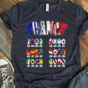 All 24 National Soccer Teams To France Shirt
