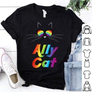 Ally Cat Rainbow Sunglasses Gay Pride Kitty Shirt