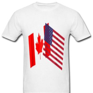 American Canadian Flags Happy Independence Day And Canada Day shirt