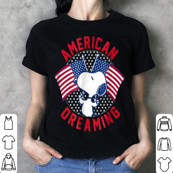 American Dreaming Snoopy American Flag shirt