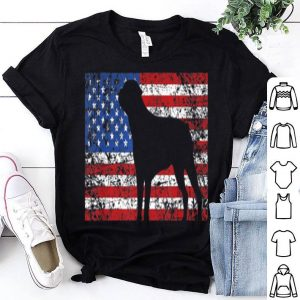 American Flag Rottweiler Dog 4th Of July Usa Gift Shirt