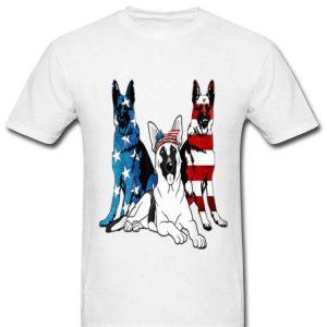 American German Shepherd Patriotic Us Flag 4th Of July Shirt