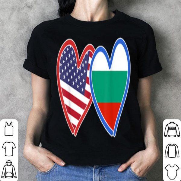 Bulgaria America Flag shirt