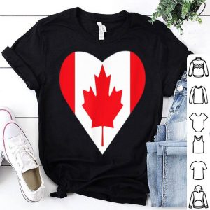 Canada Heart Canada Day Flag Shirt