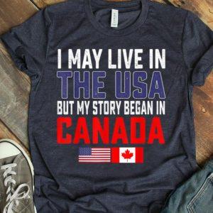 Canadian American Flag Half Canada Usa Patriot shirt