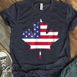 Canadian American Flag Vintage Canada USA Tee shirt