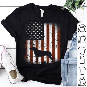 Chesapeake Bay Retriever American Flag Dog 4th July Shirt