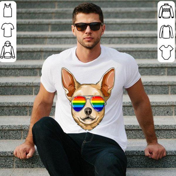Chihuahua Gay Pride Flag Lgbt Rainbow Sunglasses Chihuahua Shirt