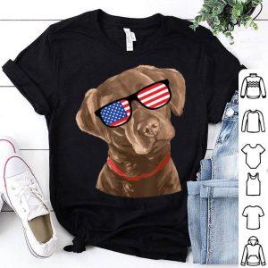 Chocolate Labrador American Flag 4th Of July Shirt