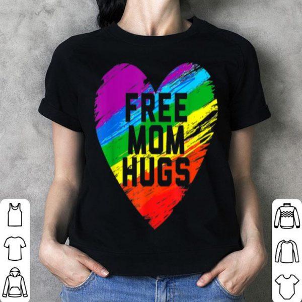 Free Mom Hugs Pride Raibow Heart Shirt