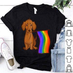 Gay Pride Flag Dachshund - Wiener Dog Shirt