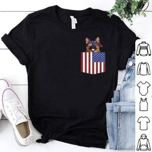 German Shepherd Pocket 4th Of July American Flag Patriotic Premium shirt