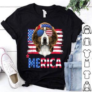 Hanging With Beagle Mom Merica 4th July Shirt