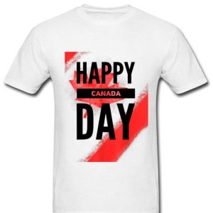 Happy Canada Day Colortext Shirt