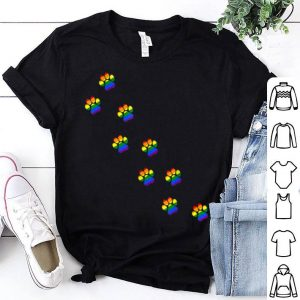 LGBTq Rainbow Paw Print For Gay Dog And Cat Lovers Shirt